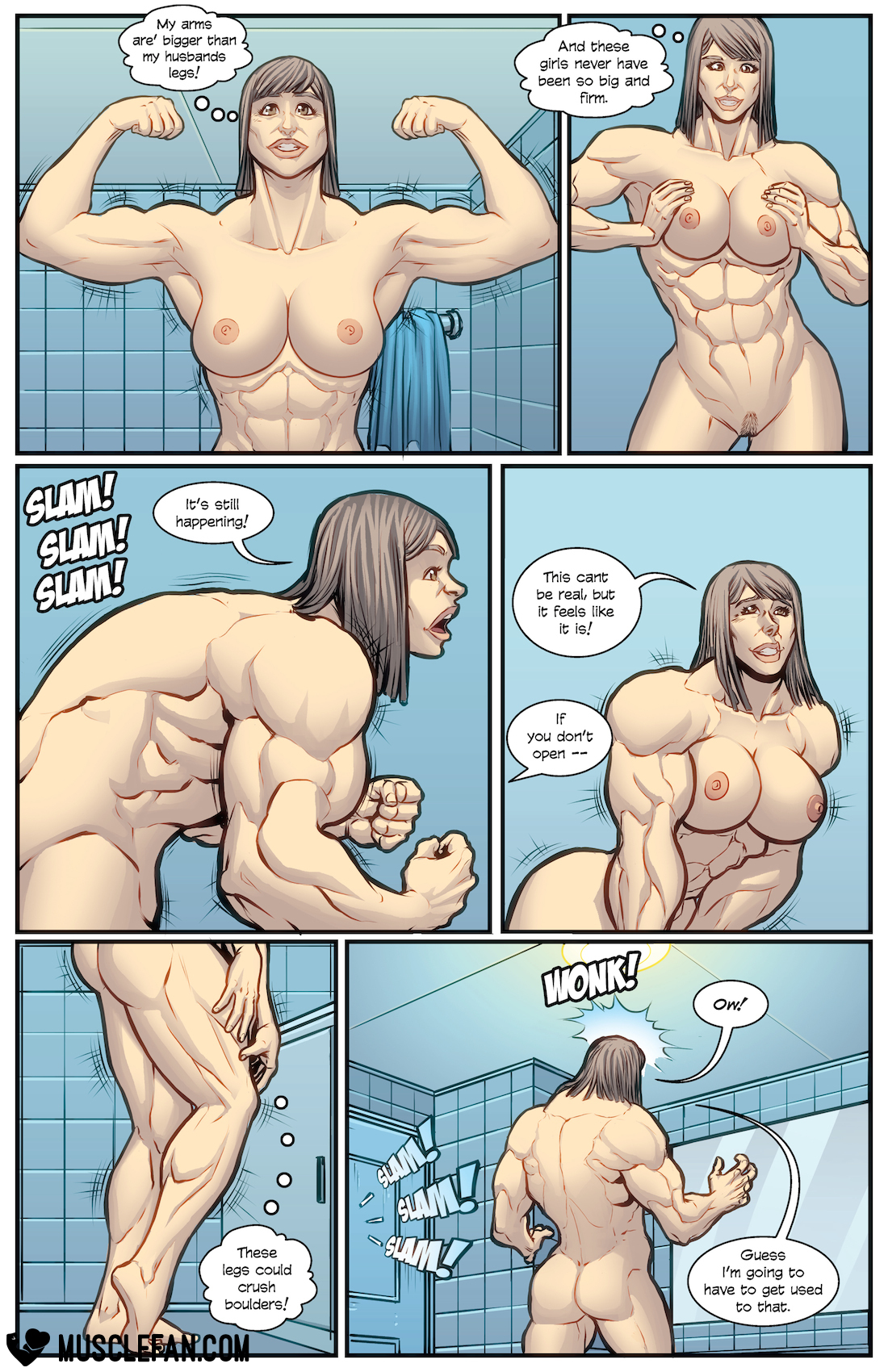 Can consult Muscle giantess growth sex comics