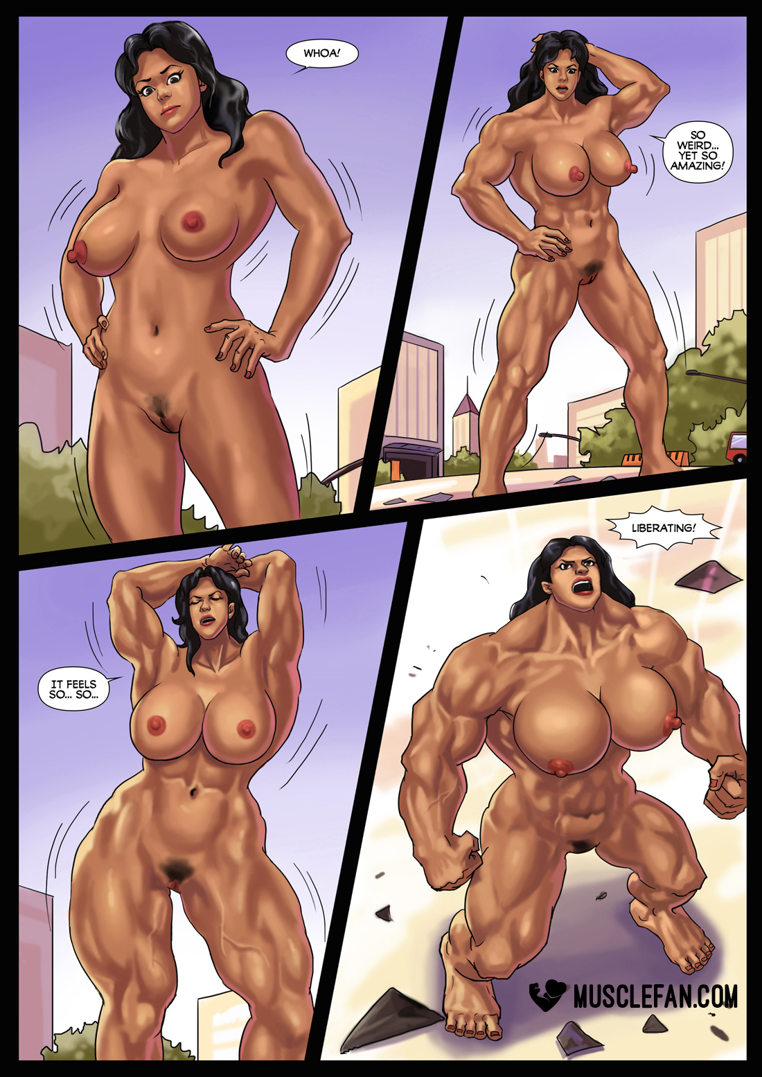sex Muscle comics growth giantess